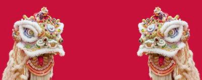 Lion Dance Costume Imágenes de archivo libres de regalías