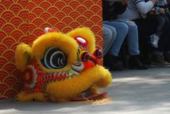 Lion Dance Costume. A Chinese lion head as a part of costume for traditional Chinese lion dance Stock Image