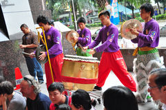 Lion Dance Drummer Royalty Free Stock Images