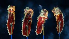 Lion Dance en Bangkok Chinatown Fotos de archivo libres de regalías