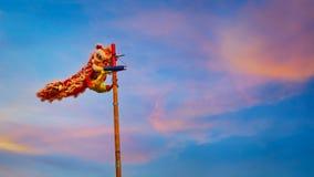 Lion Dance en una celebración china del ` s del Año Nuevo Imagen de archivo libre de regalías