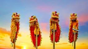 Lion Dance en una celebración china del ` s del Año Nuevo Fotografía de archivo libre de regalías