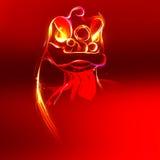Lion Dance-Form durch Geschwindigkeitslinie Lizenzfreies Stockbild