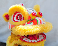 Lion dance head Royalty Free Stock Image