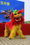 Lion dance performance on the stage, china Royalty Free Stock Images