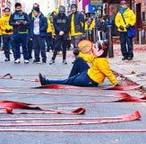 Lion Dance - Philadelphia. Taking a break during the Chinese New Year Lion Dance in Philadelphia Stock Images