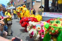 Lion Dance Procession Foto de Stock Royalty Free