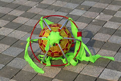 Lion dance props, ball made of silk Stock Photo