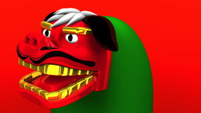 Lion Dance On Red Background stock video
