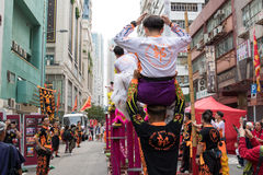 Lion Dance Rehearsal Royalty Free Stock Images