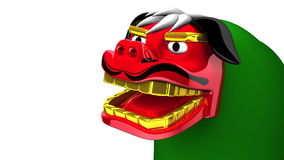 Lion Dance On White Text Space stock video footage