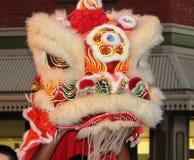 Lion Dancer Arkivbilder