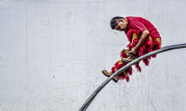 The lion dancer Stock Photography