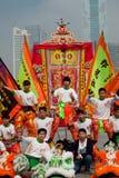 Lion dancers celebrating Stock Images