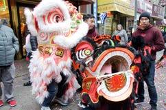 Lion Dancers Royalty Free Stock Photos