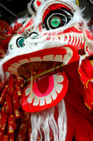 Lion dancing Chinese dragon Stock Photos