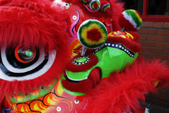 Lion Dancing Chinese New Year Celebrations in Blackburn England Stock Image