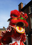 Lion Dancing Chinese New Year Celebrations in Blackburn England Stock Photo