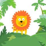 Lion dans la forêt Images libres de droits
