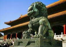 Lion - dans le palais Gugun commencez dedans Photographie stock libre de droits
