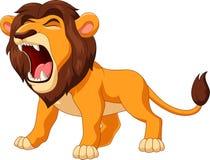 lion de bande dessinée hurlant illustration de vecteur