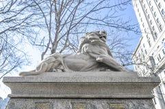 Lion de Belfort, een attribuut aan Koningin Victoria Royalty-vrije Stock Afbeeldingen