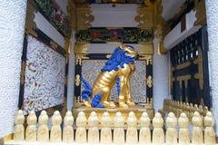 Lion de Chiness dans le tombeau de Toshogu photos stock