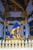 Lion de Chiness dans le tombeau de Toshogu photographie stock
