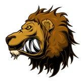 Lion de colère illustration de vecteur
