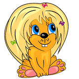 Lion de dessin animé. chéri animale mignonne Images stock