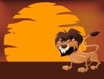 Lion de dessin animé Image libre de droits