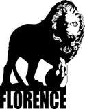 Lion de Florence Photo stock