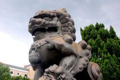Lion de gardien Image libre de droits
