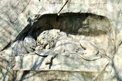Lion de Luzerne Images libres de droits