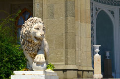 Lion de marbre blanc Photo libre de droits