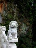 Lion de marbre, Taroko, Taïwan Photographie stock libre de droits