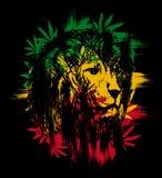Lion de Rasta illustration stock