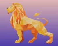 Lion de triangle Photos libres de droits