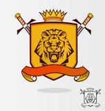 Lion de vecteur Images stock