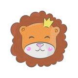 Lion de vecteur tiré par la main illustration libre de droits