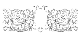 Lion Decoration frame Stock Images