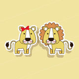 Lion design Stock Images