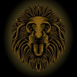 Classic lion head stock illustration