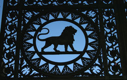 Lion Detail. Found in the gate at London Marble Arch royalty free stock images
