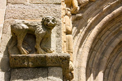 Lion. detail of Cathedral. Royalty Free Stock Photo