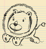 Lion Doodle Sketch Photo stock