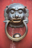 Lion door Royalty Free Stock Images