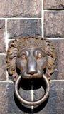 Lion door handle at cityhall in stockholm Stock Photos
