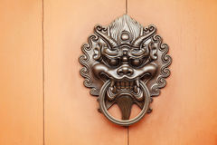 Lion door knob Royalty Free Stock Photos
