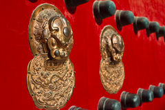 Lion door knocker. Of the Imperial Palace Royalty Free Stock Image